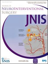 Journal of NeuroInterventional Surgery: 7 (10)