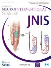 Journal of NeuroInterventional Surgery: 7 (11)