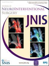 Journal of NeuroInterventional Surgery: 7 (12)
