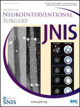 Journal of NeuroInterventional Surgery: 7 (2)