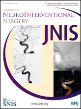 Journal of NeuroInterventional Surgery: 7 (3)