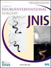 Journal of NeuroInterventional Surgery: 7 (3)