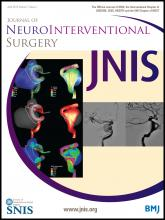 Journal of NeuroInterventional Surgery: 7 (4)