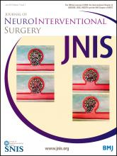 Journal of NeuroInterventional Surgery: 7 (7)