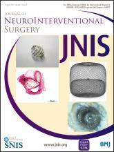 Journal of NeuroInterventional Surgery: 7 (8)
