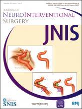 Journal of NeuroInterventional Surgery: 7 (9)