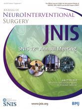 Journal of NeuroInterventional Surgery: 7 (Suppl 1)