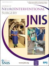 Journal of NeuroInterventional Surgery: 8 (10)