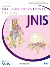 Journal of NeuroInterventional Surgery: 8 (12)