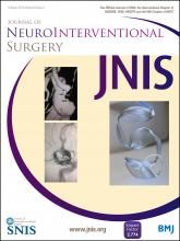 Journal of NeuroInterventional Surgery: 8 (2)