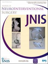 Journal of NeuroInterventional Surgery: 8 (2)