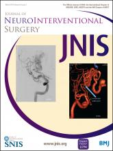 Journal of NeuroInterventional Surgery: 8 (3)