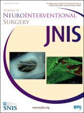 Journal of NeuroInterventional Surgery: 8 (4)