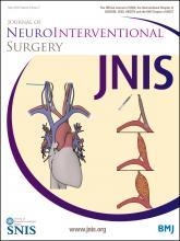 Journal of NeuroInterventional Surgery: 8 (5)