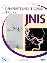 Journal of NeuroInterventional Surgery: 8 (7)