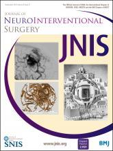 Journal of NeuroInterventional Surgery: 8 (9)
