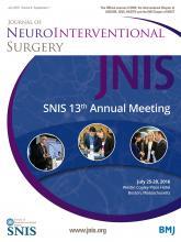 Journal of NeuroInterventional Surgery: 8 (Suppl 1)