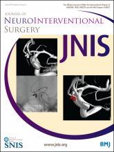 Journal of NeuroInterventional Surgery: 8 (e1)