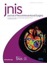 Journal of NeuroInterventional Surgery: 9 (11)