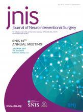 Journal of NeuroInterventional Surgery: 9 (Suppl 1)