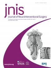 Journal of NeuroInterventional Surgery: 9 (e1)